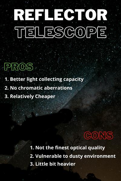 reflector telescope pros cons